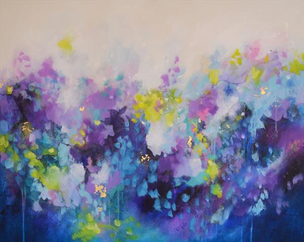The Silent Thoughts - Large Original Abstract Painting by Tracy - Ann Marrison