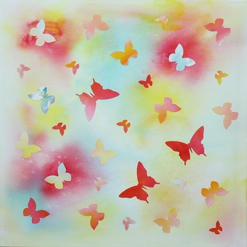 Summer Memories (butterfly collage) by Paresh Nrshinga