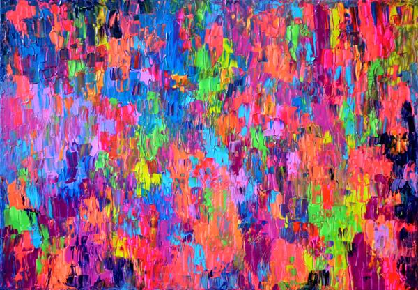 Small Gypsy Girl - 100x70 cm - Abstract Painting - Ready to Hang by Soos Tiberiu - Anton