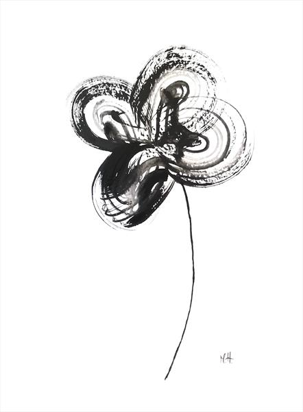 Black and white flower by Monika Howarth
