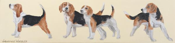 'A Bunch of Happy Beagles' by Laurence Wheeler