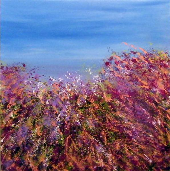 Wild Meadow Sea View by Roselind A'rt