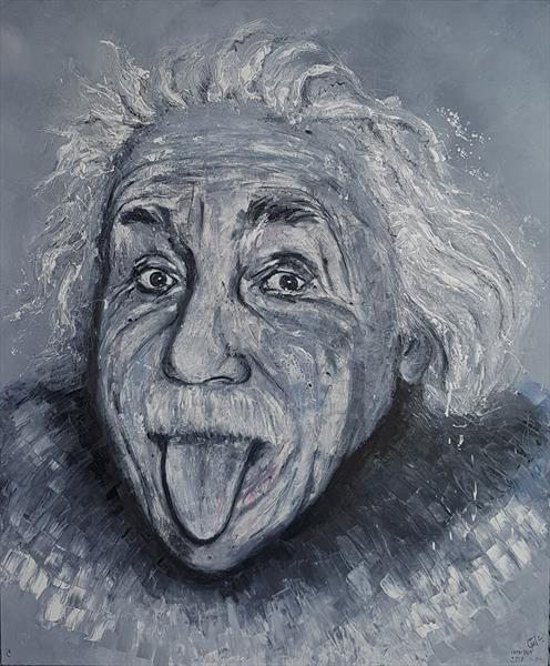 Albert Einstein. Tongue by Lena Ivanova