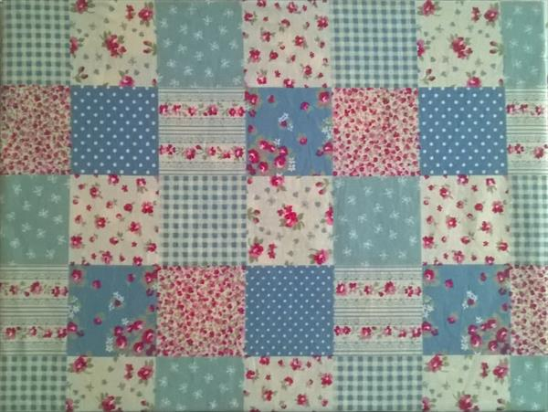 Patchwork in blue and pink. by Dorota Warchol
