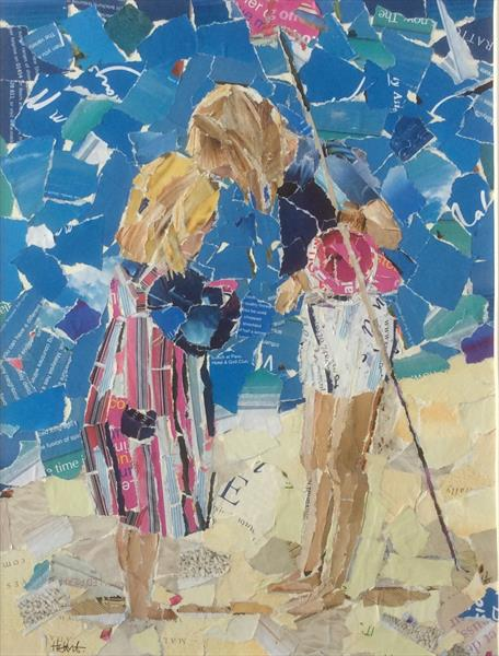 Two Sisters Fishing by Helen Norman