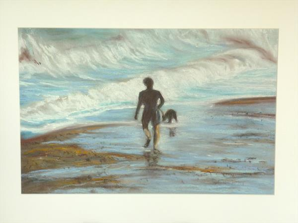 Evening Stroll - Walk by the Sea by Susan Temperley