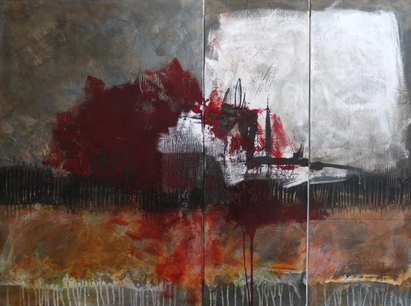 Abstract Triptych | large painting | Work No. 2019.18 by Daniela Schweinsberg