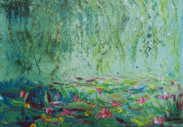 Waterlillies 1 small by Teresa Tanner