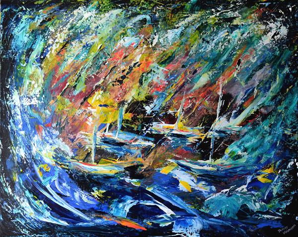 Storm on the bay. Abstract seascape by Thierry Vobmann