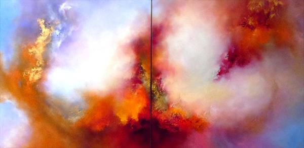 Organised Chaos II (XL Diptych) by Gillian Luff