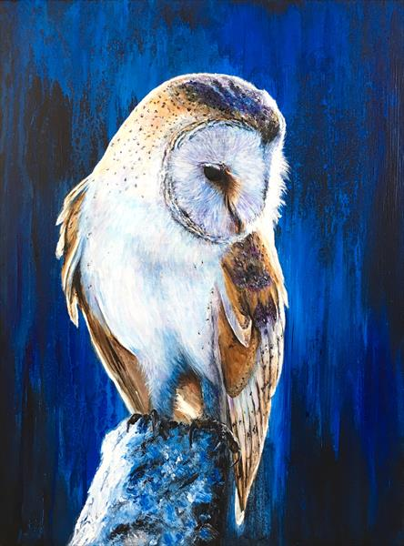 Blue Barn Owl