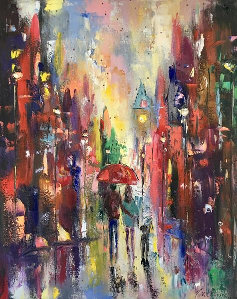 Rainbow streets  by Pippa Buist