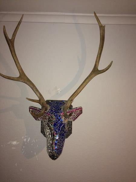 Deer in blue by Elisabeth Afseth