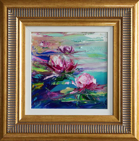 SUMMER POND LILIES Framed