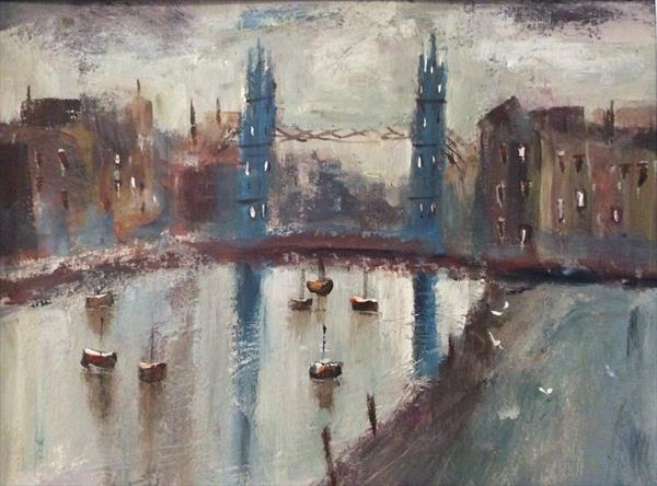 TOWER BRIDGE DUSK  by Roma Mountjoy
