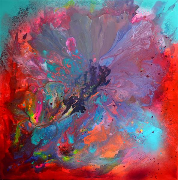 The Last Beauty I - XL Big Painting, Large Abstract by Soos Tiberiu - Anton