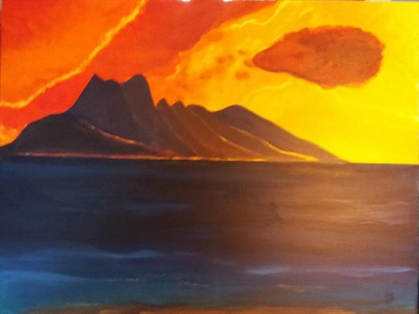 Isle of Rum - Sunset by Ann-Katrin Volkmann