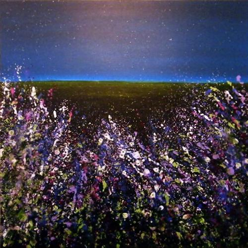 Wild Meadow Starry Starry Night (REDUCED) by Roselind A'rt