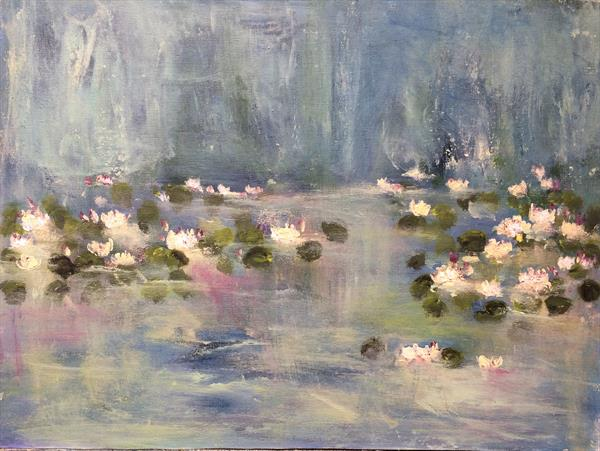 The Lily Pond  by Maxine Martin