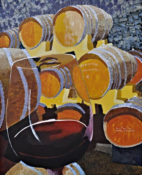 Wine Cellar in Bourgogne by Alan Parkin-Coates