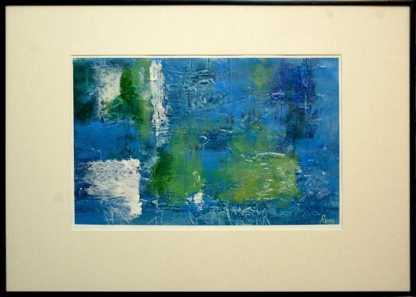 ABSTRACT VARIATIONS # 62. Acrylic painting on paper. Framed. by Rumen Spasov