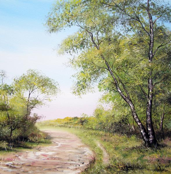 New Forest Path by Sarah Featherstone