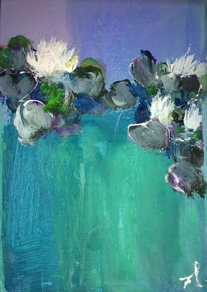 Waterlilies VI by Maxine Martin