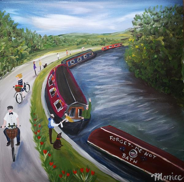 I'd rather be on the canal (Bath UK)  by cheryl Morrice