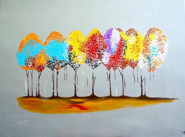Autumn tree  by Poonam choudhary