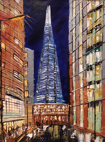 The Shard London by Night by Andrew Alan Matthews