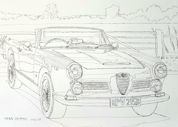 1966 Alfa Romeo 2600 Spider by Jean L'Homme