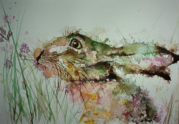 Hare 'in Clover' A3 size