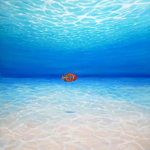 Orange Fish in a Big Blue Ocean