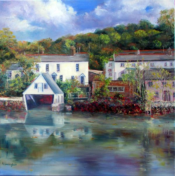 Boathouse in Helford by Patricia Cunningham