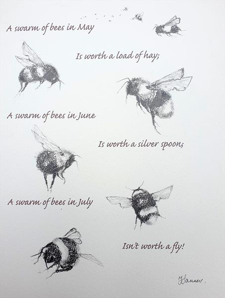 A swarm of bees in May.... by Teresa Tanner