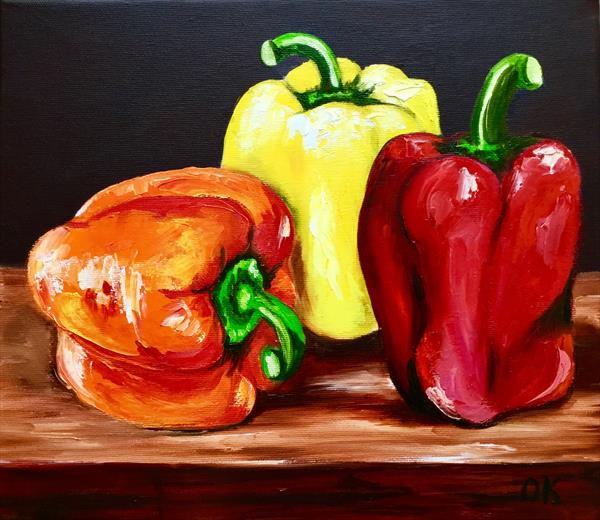 Peppers. Still life. by Olga  Koval