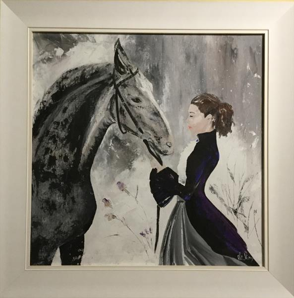 Lady and horse by Vitalie Nastas