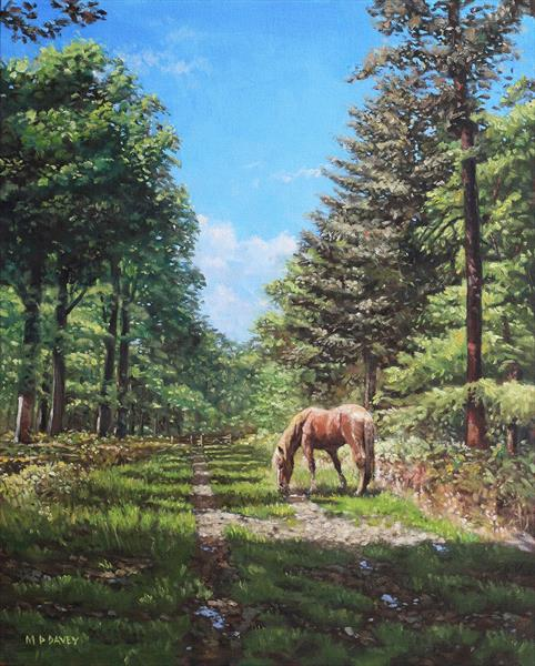 Horse In New Forest by Martin  Davey