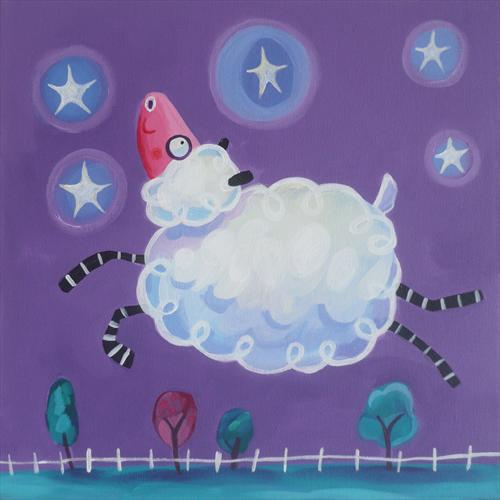 Leaping Sheep by Emily Skinner