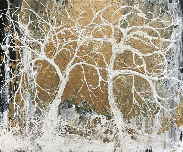Golden Trees by Carol Wood