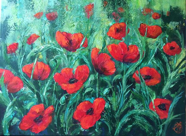 Red Poppies by Colette Baumback