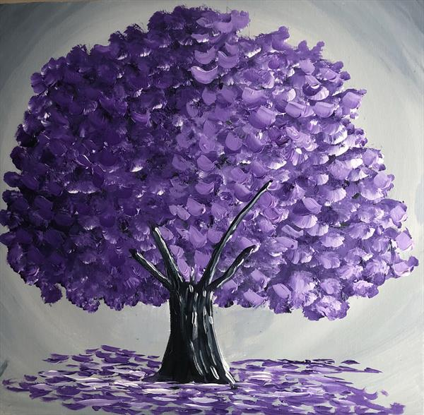 Magical Purple Tree by Aisha Haider