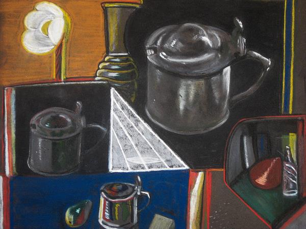 Still Life with Pewter by adrian parker