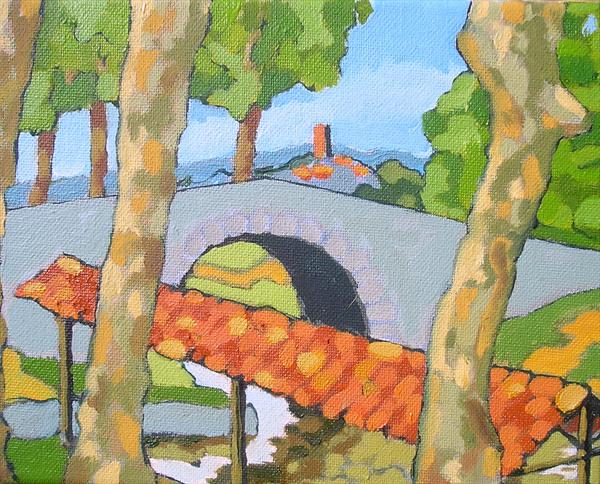 Lavoir on the Canal du Midi (Languedoc Landscape 4) by Paul O' Dell