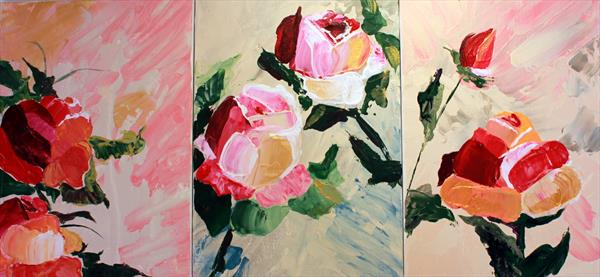 Roses triptych by Aleksandra Issa