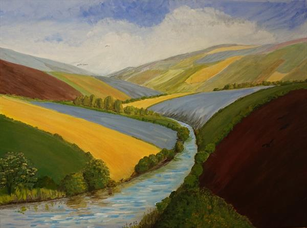 Exe Valley In Spring by Janet Davies