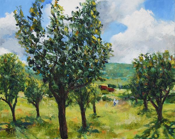 Orchard in Burgundy by Brian Hanson