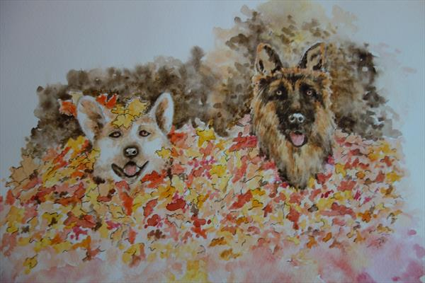 Fun in Autumn  by Trish Garratt