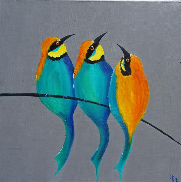 Bee Eater Trio by Gill Masters