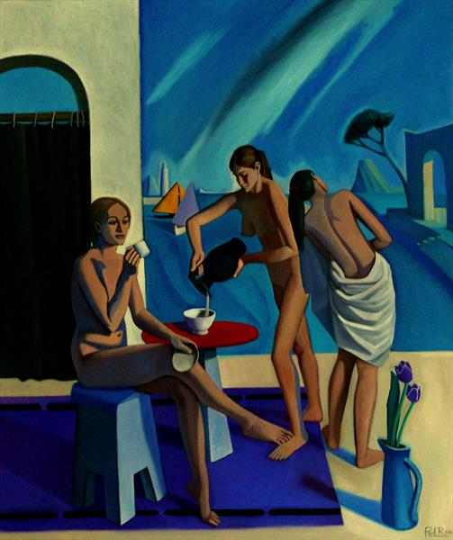 Three Bathers by Paul Rossi